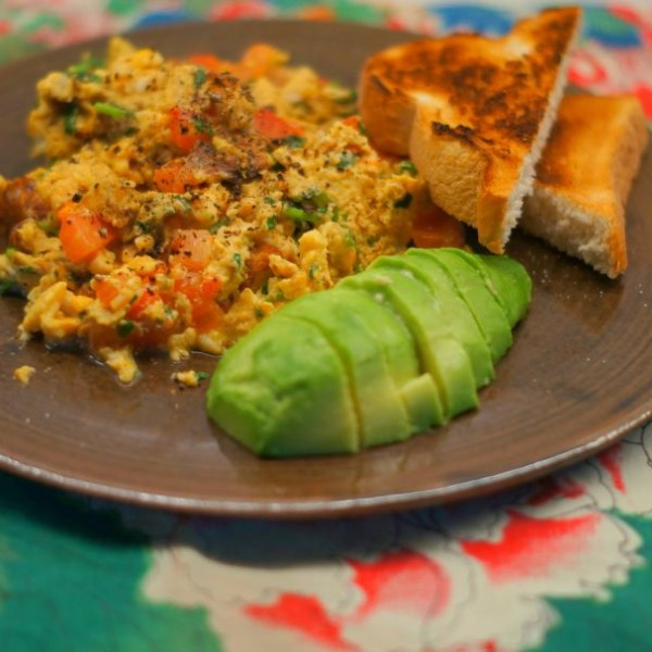 Masala Scrambled Eggs