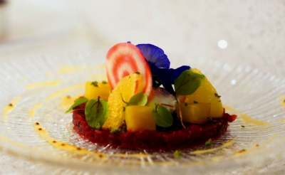 Beetroot,bergamot,rose